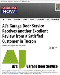 Tucson News Now on AJs Garage Door Repair
