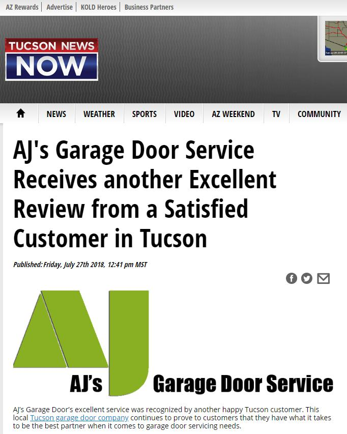 Tucson News Now on AJs Garage Door Repair