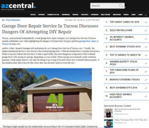 AJ's Garage Door Repair of Tucson in the News